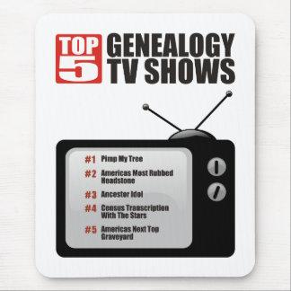 Showes televisivo de la genealogía del top 5 tapete de ratones
