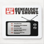 Showes televisivo de la genealogía del top 5 alfombrillas de raton