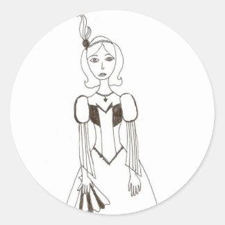 Showgirl Classic Round Sticker