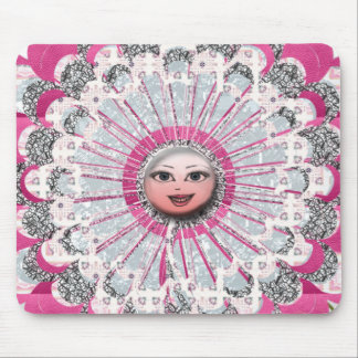 Showgirl flower mouse pad