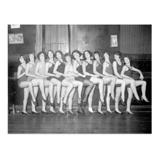Showgirls, 1924 postal
