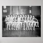 Showgirls, 1925. Vintage Photo Poster