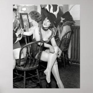 Showgirls Backstage, 1926 Poster