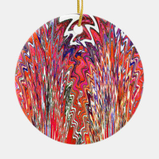 Showgirls Double-Sided Ceramic Round Christmas Ornament