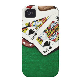 Showing cards green table poker Case-Mate iPhone 4 covers