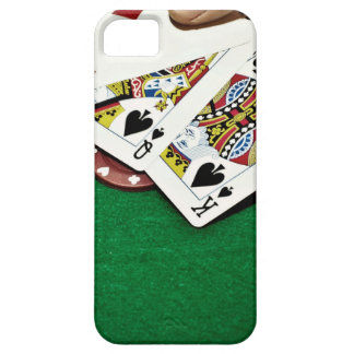 Showing cards green table poker iPhone SE/5/5s case