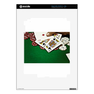 Showing cards green table poker skins for iPad 2