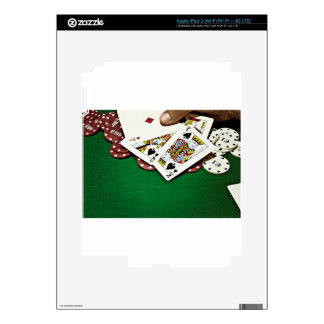 Showing cards green table poker skin for iPad 3