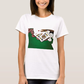 Showing cards green table poker T-Shirt