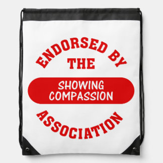 Showing Compassion Drawstring Backpacks