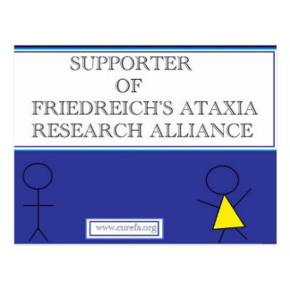 Showing Friedreich's Ataxia Support Postcard