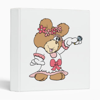 showing off ring bride to be teddy bear 3 ring binder
