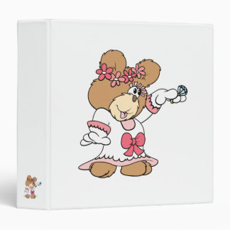 showing off ring bride to be teddy bear binder