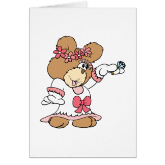 showing off ring bride to be teddy bear card