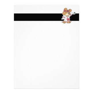 showing off ring bride to be teddy bear letterhead