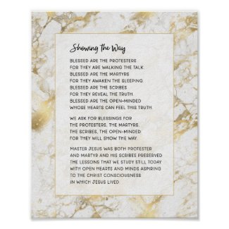 Showing the Way Inspirational Motivational Poem Poster