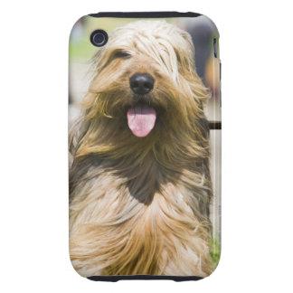 showing tongue, long hair, portrait tough iPhone 3 covers