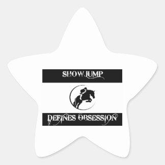 showjump design star sticker