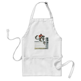 Showjumping Grey Horse Over Fences Adult Apron