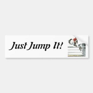 Showjumping Grey Horse Over Fences Bumper Sticker