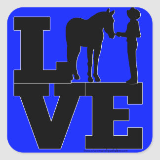Showmanship Love - Blue Square Sticker
