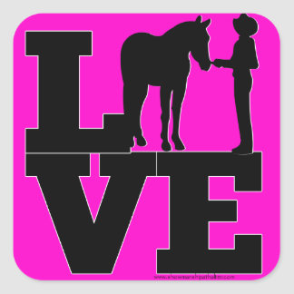 Showmanship Love - Pink Square Sticker