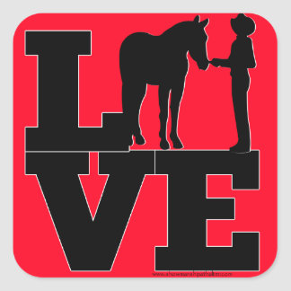 Showmanship Love - Red Square Sticker