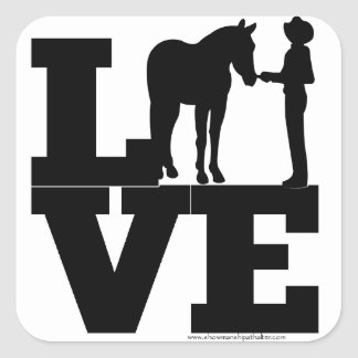 Showmanship Love - White Square Sticker