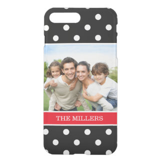 Showoff Family Portrait Photo Black White Dots iPhone 8 Plus/7 Plus Case