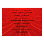 Showstopper Red Wedding Invite
