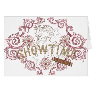 showtime tarjeta de felicitación