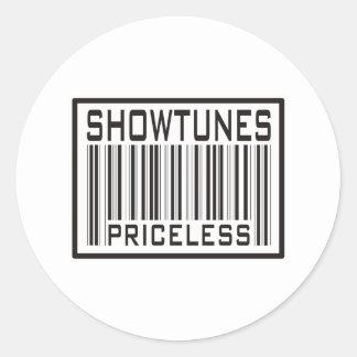 Showtunes Priceless Classic Round Sticker