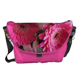 showy buzzers flowers - large messenger bag