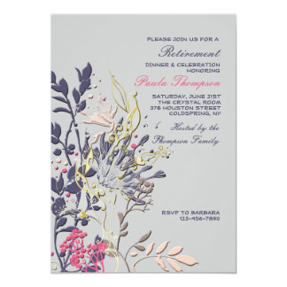Showy Floral Invitation