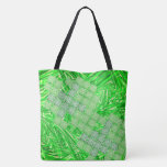 Showy green bag with squares type tile