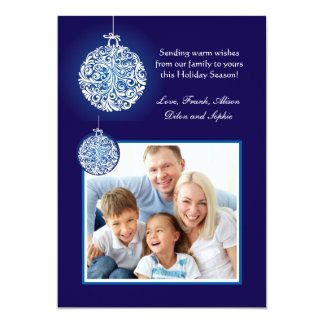 Showy Ornaments Holiday Photo Card