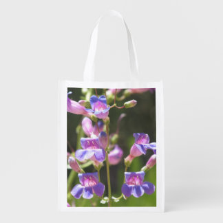 Showy Penstemon Reusable Grocery Bags