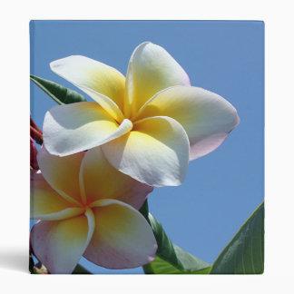 Showy Plumeria Frangipani Blooms Binder