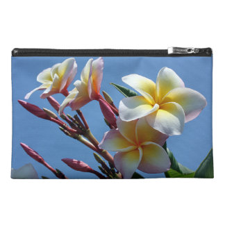 Showy Plumeria Frangipani Blooms Travel Accessory Bag