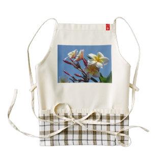 Showy Plumeria Frangipani Blooms Zazzle HEART Apron