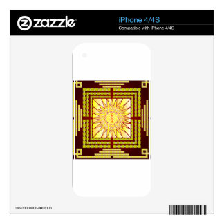Showy Transcendent Wisdom Mandala Type w/ Script iPhone 4 Skin