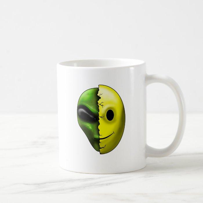 Shreaded Alien Smiley Face Mug