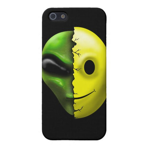 Shreaded Alien Smiley Face Speck Case iPhone 5 Covers