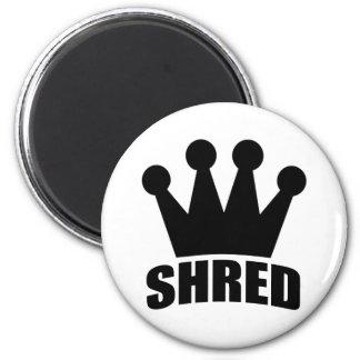 Shred Crown (black) circular magnet