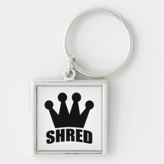 Shred Crown (black) square keychain