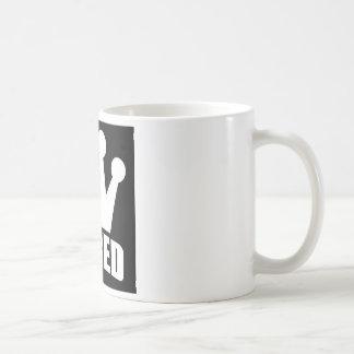 Shred Crown (white) mug (front logo)