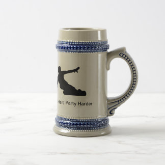 Shred Hard Party harder Beer Stein