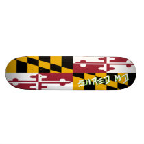 Shred Maryland Flag Skateboard