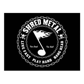 Shred Metal Postcard