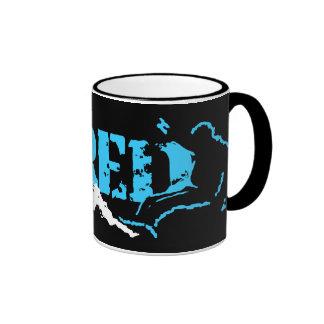 shred. snowboard. ringer coffee mug